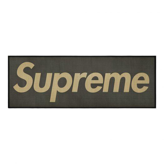 Supreme Woven Straw Mat Black