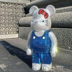 Bearbrick Hello Kitty Crystal 400% figure