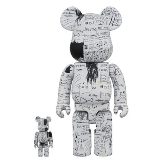 Bearbrick Jean-Michel Basquiat 3 100% & 400% Set White