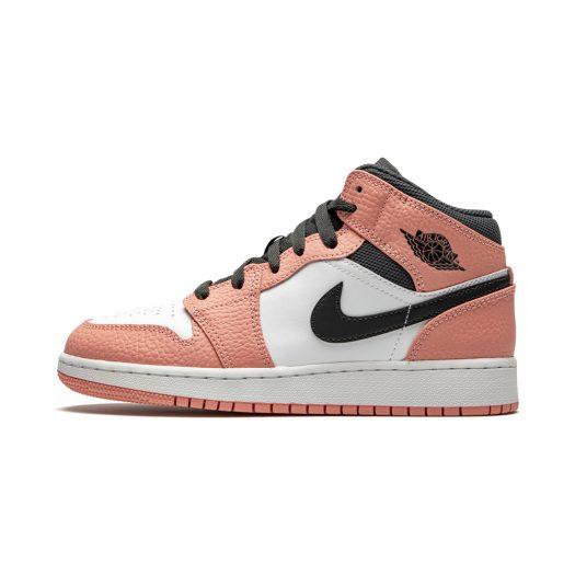 Jordan 1 Mid Pink Quartz (GS)