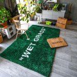 "Virgil Abloh x IKEA MARKERAD ""WET GRASS"" Rug 195×132 CM Green"