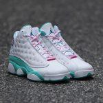 Jordan 13 Retro White Soar Green Pink (GS)