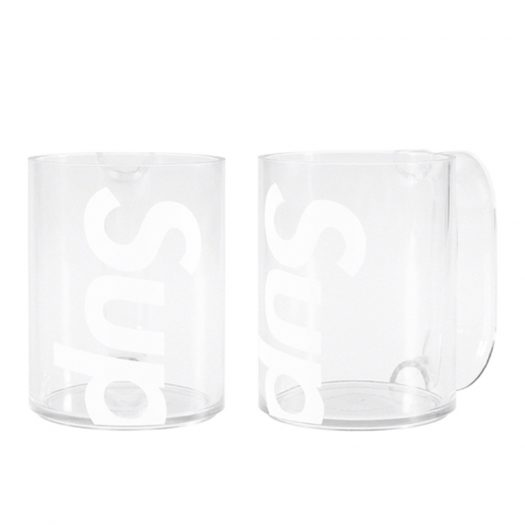 Supreme Heller Mugs (Set of 2) Clear