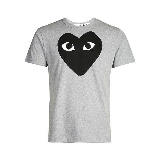 COMME DES GARCONS PLAY Heart-Print Cotton-Jersey T-Shirt