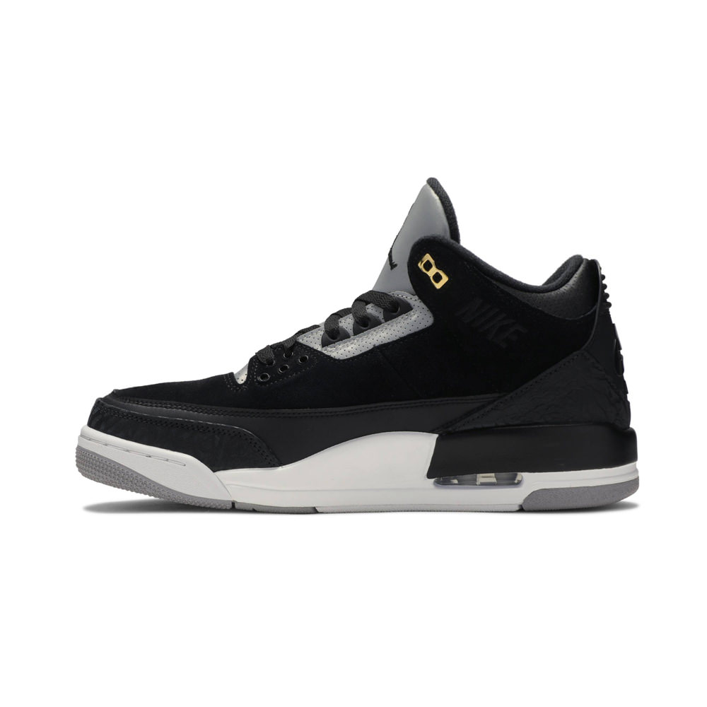 Jordan 3 Retro Tinker Black Cement Gold