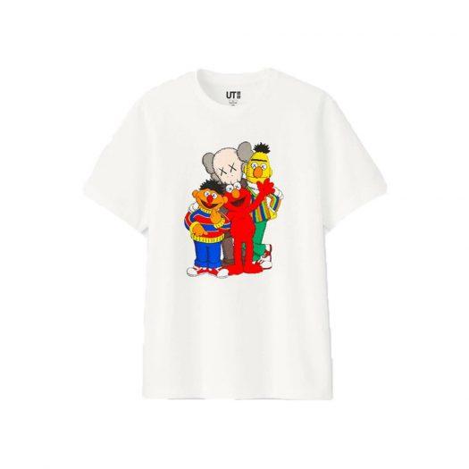 KAWS x Uniqlo x Sesame Street Group Tee White