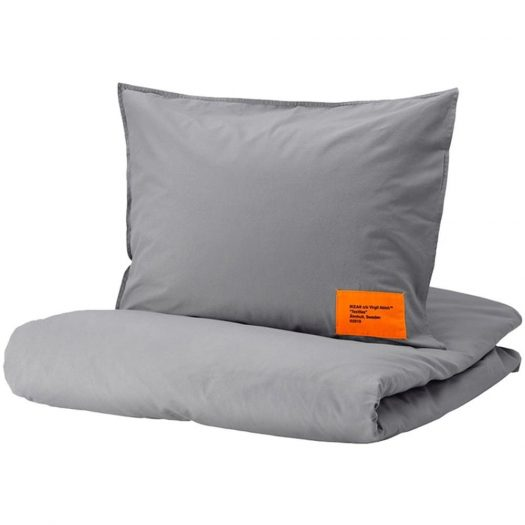 Virgil Abloh X Ikea Markerad Us Duvet Cover And 2 Pillowcases (Full/queen) Gray