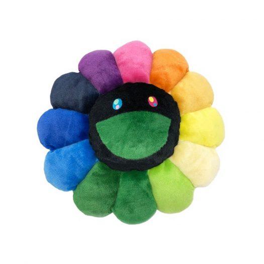 Takashi Murakami Flower Plush 30cm Rainbow/black