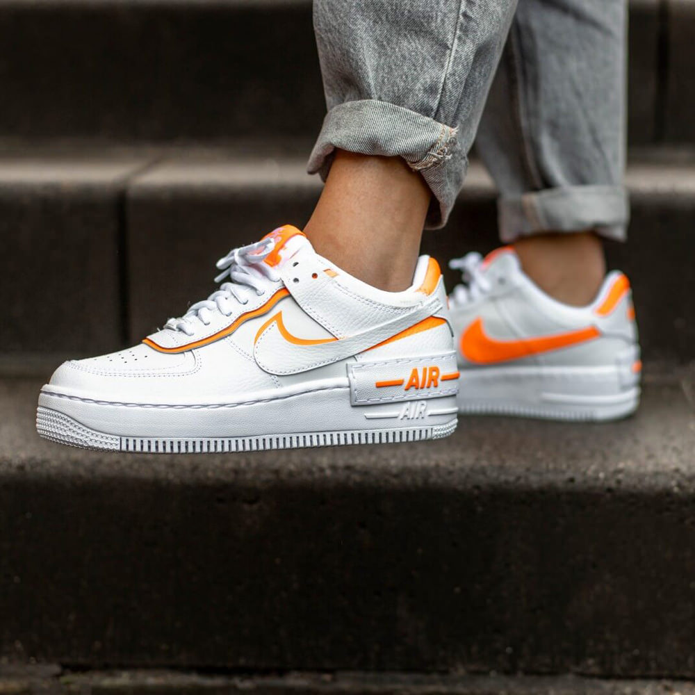 Nike Air Force 1 Shadow White Total Orange W Ofour 4.7 out of 5 stars 398. nike