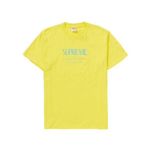 Supreme Anno Domini Tee Yellow