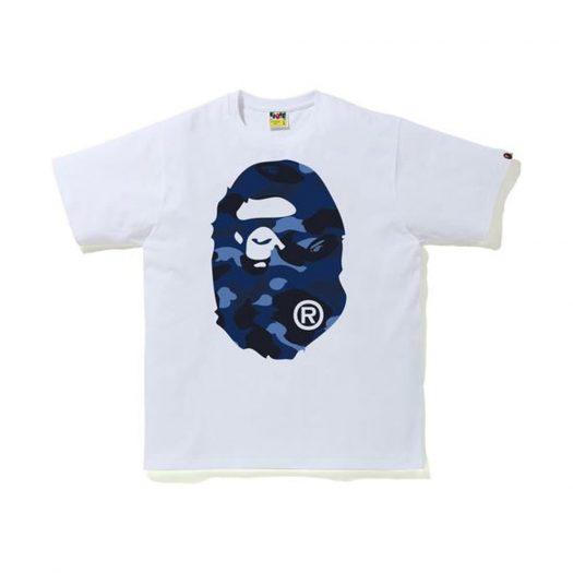 Bape Color Camo Big Ape Head T-shirt (Ss20) White/navy