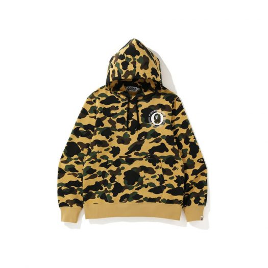 Bape 1st Camo Kanji Pullover Hoodie Yellow