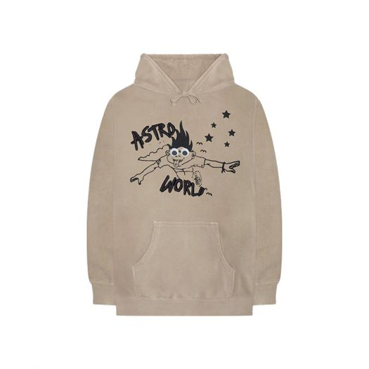 Travis Scott Astroworld Look Mom I Can Fly Hoodie Tan