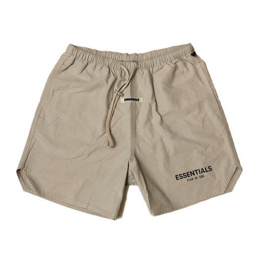 Fear Of God Essentials Nylon Active Shorts Tan