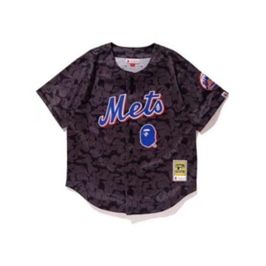 Bape X Mitchell & Ness Mets Jersey Black