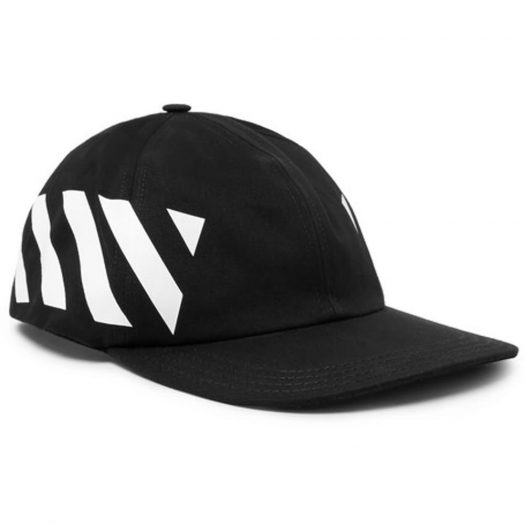 Off-white Striped Diag Canvas Hat Black/white