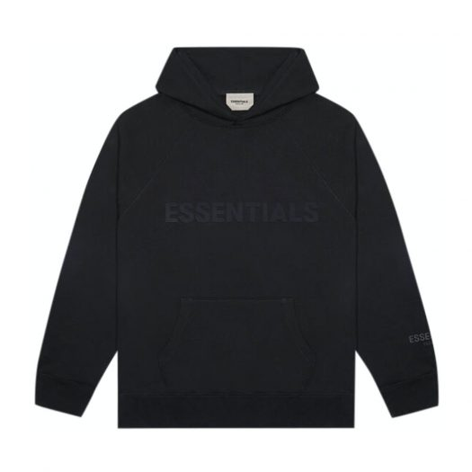 Fear Of God Essentials 3d Silicon Applique Pullover Hoodie Dark Slate/stretch Limo/black