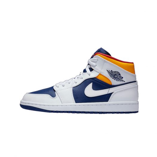 Jordan 1 Mid Royal Blue Laser Orange