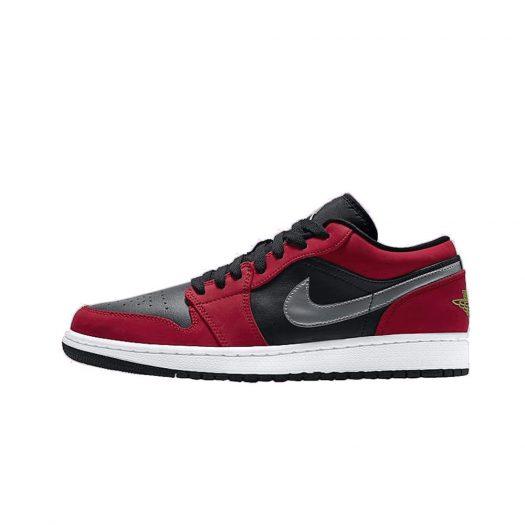 Jordan 1 Low Black Green Pulse Gym Red