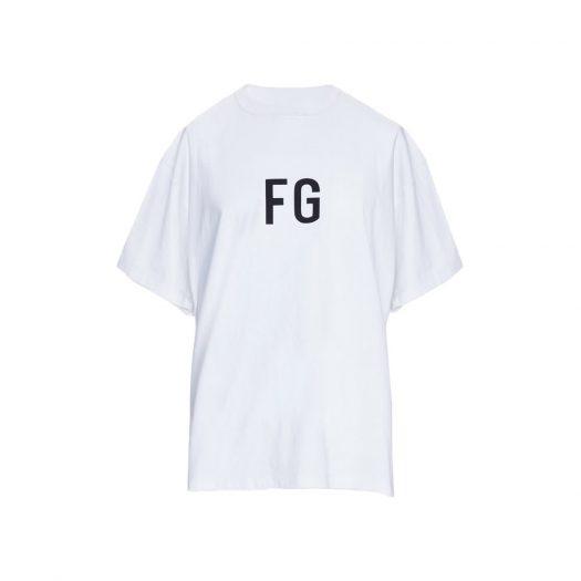 Fear Of God Fg' Logo T-shirt White/black