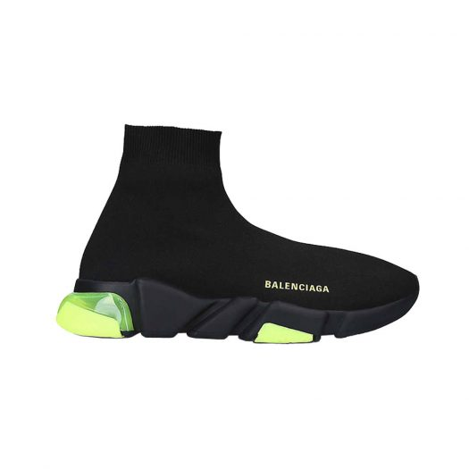 Balenciaga Speed Clear-sole Stretch-knit Mid-top Trainers