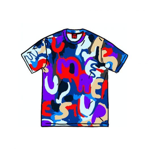 Supreme Painted Logo S/S Top Royal