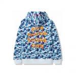 Bape X Anti Social Social Club Abc Camo Pullover Hoodie Blue