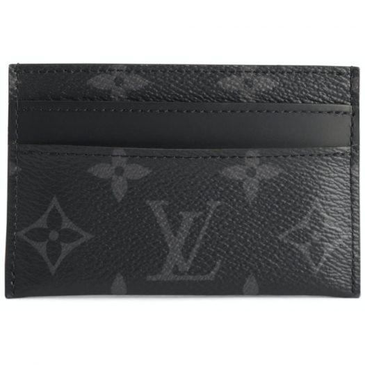 Louis Vuitton Card Holder Porte Cartes Double Monogram Eclipse Black/Grey