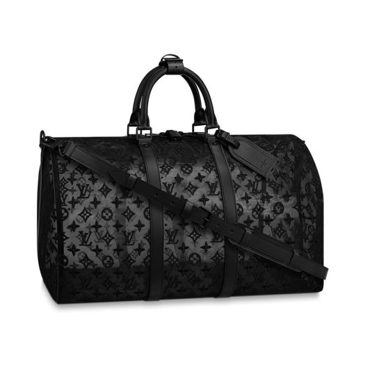 Louis Vuitton Keepall Bandouliere Monogram Mesh 50 Black