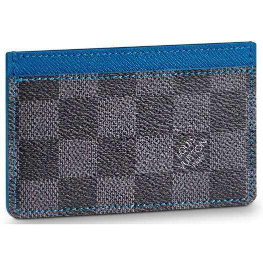 Louis Vuitton Card Holder Damier Graphite Grey/Blue