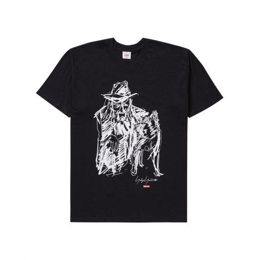 Supreme Yohji Yamamoto Scribble Portrait Tee Black