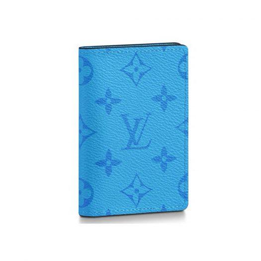 Louis Vuitton Pocket Organizer Monogram Eclipse Lagoon Blue