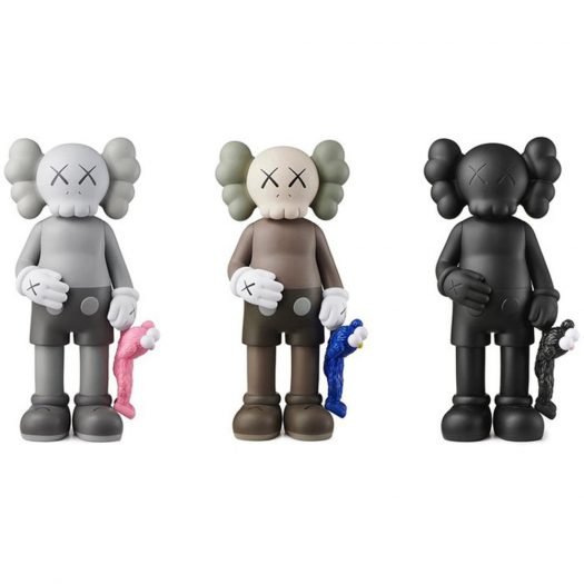 Kaws Share Vinyl Figure Black/brown/grey Set