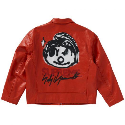 Supreme Yohji Yamamoto Leather Work Jacket Orange