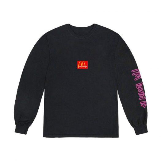 Travis Scott x McDonald's Action Figure Space L/S T-Shirt Black