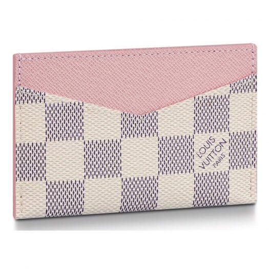 Louis Vuitton Daily Card Holder Damier Azur Rose Ballerine