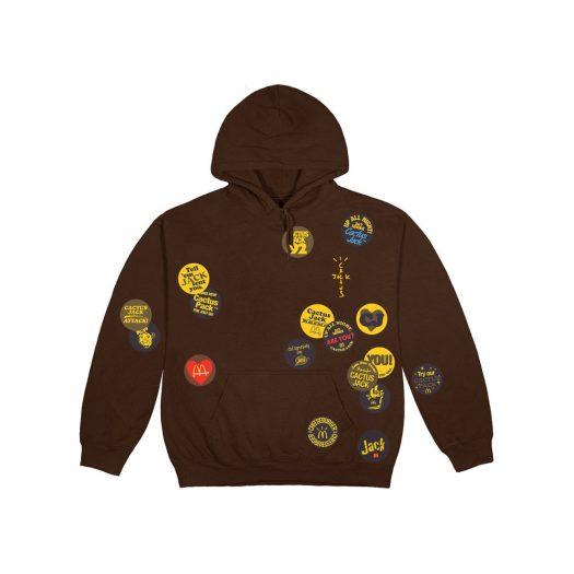 Travis Scott x McDonald's Sticker Bomb Hoodie Brown