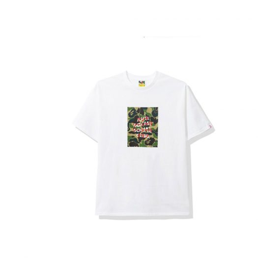 Bape X Anti Social Social Club Abc Camo Box Tee White/green