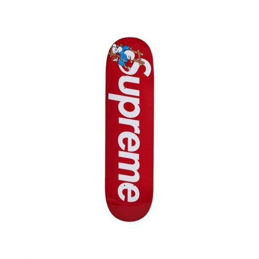 Supreme Smurfs Skateboard Red