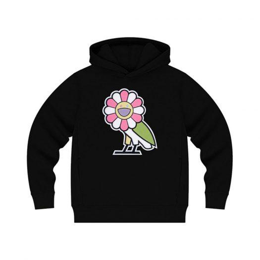 Takashi Murakami x OVO Surplus Flower Owl Hoodie Black