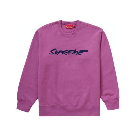 Supreme Futura Logo Crewneck Bright Purple