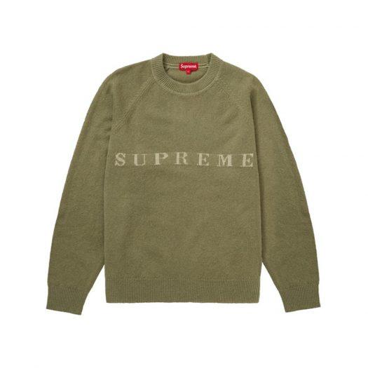 Supreme Stone Washed Sweater Olive