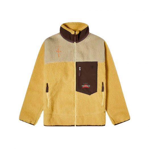 Travis Scott Cactus Trails Tri-Color Full-Zip Sherpa Jacket Gold/Natural/Brown