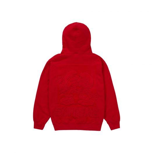 Supreme Smurfs Hooded Sweatshirt Red