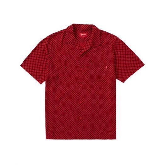 Supreme Compact Dot Rayon S/S Shirt Red