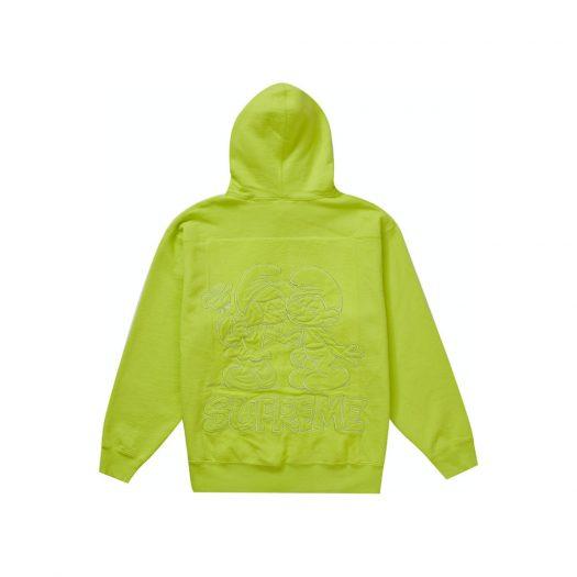 Supreme Smurfs Hooded Sweatshirt Acid Green