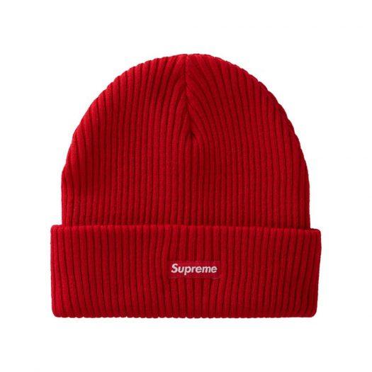 Supreme Wide Rib Beanie Red