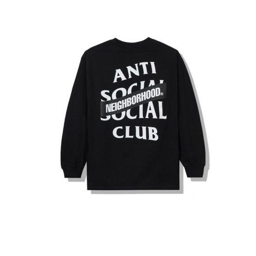Anti Social Social Club x Neighborhood AW05 Black Long Sleeve Tee Longsleeve Tee Black