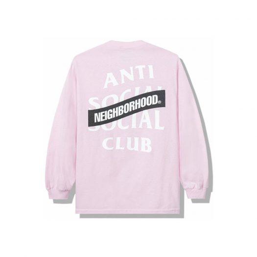 Anti Social Social Club x Neighborhood AW05 Pink Long Sleeve Tee Longsleeve Tee Pink