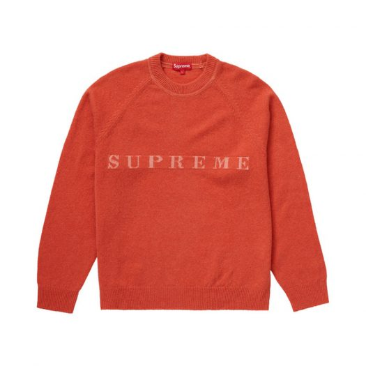 Supreme Stone Washed Sweater Red